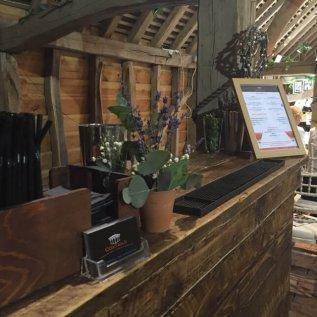wooden bar close up