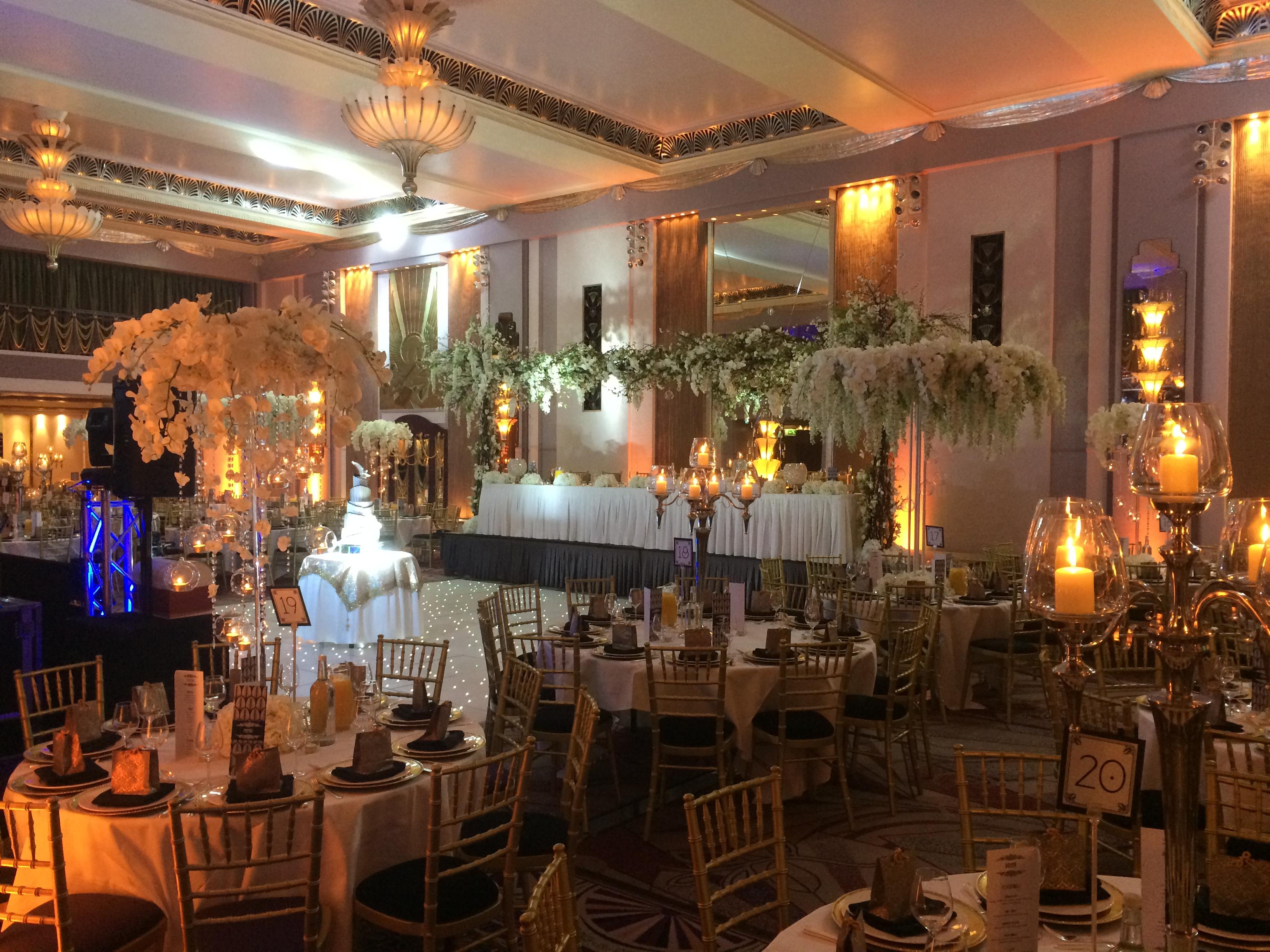 Wedding Setting Orange