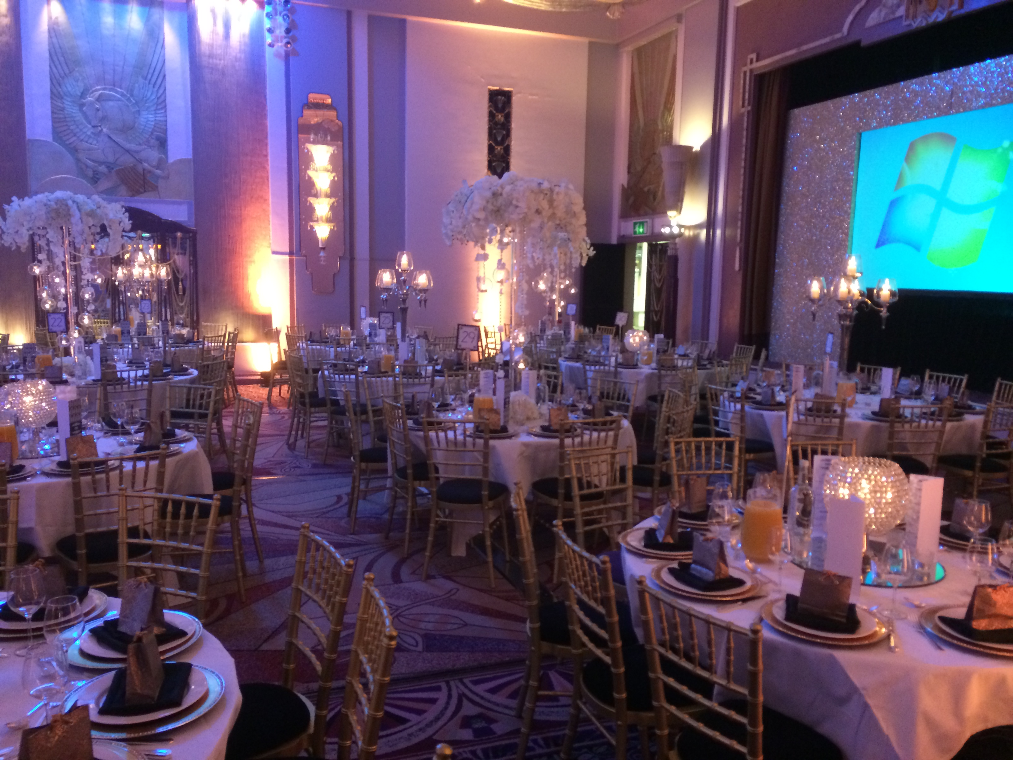 Wedding Table Setting Pink