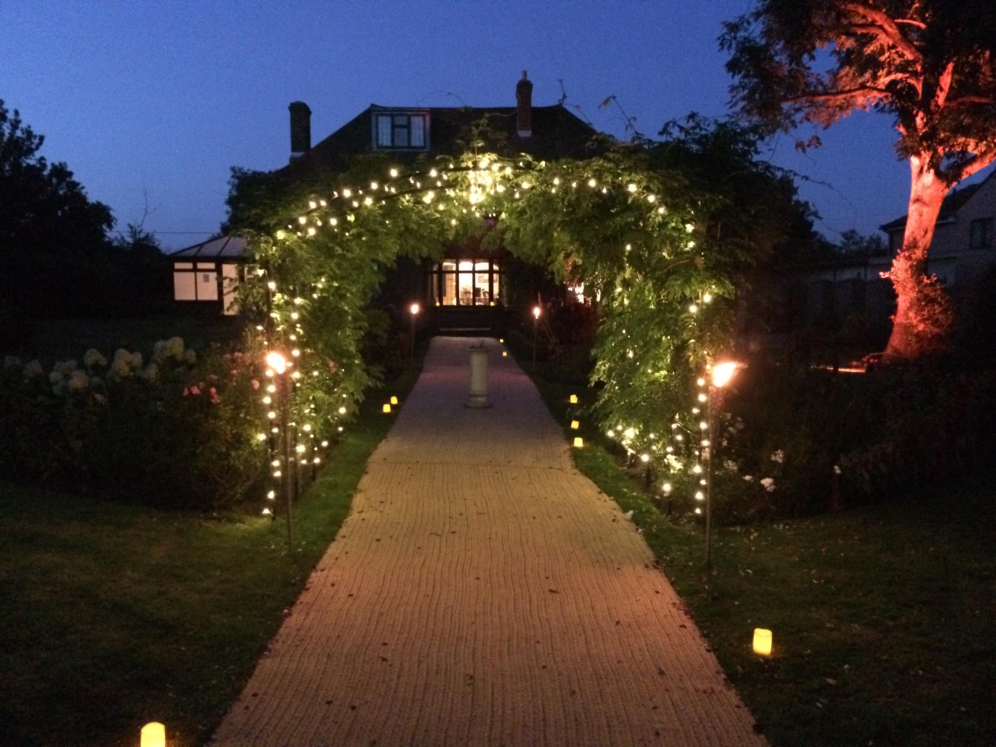 Wedding Outside Lights