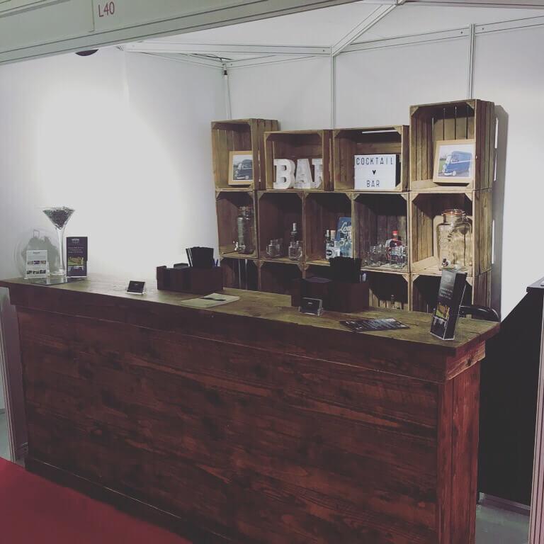 2.5M Wooden Bar