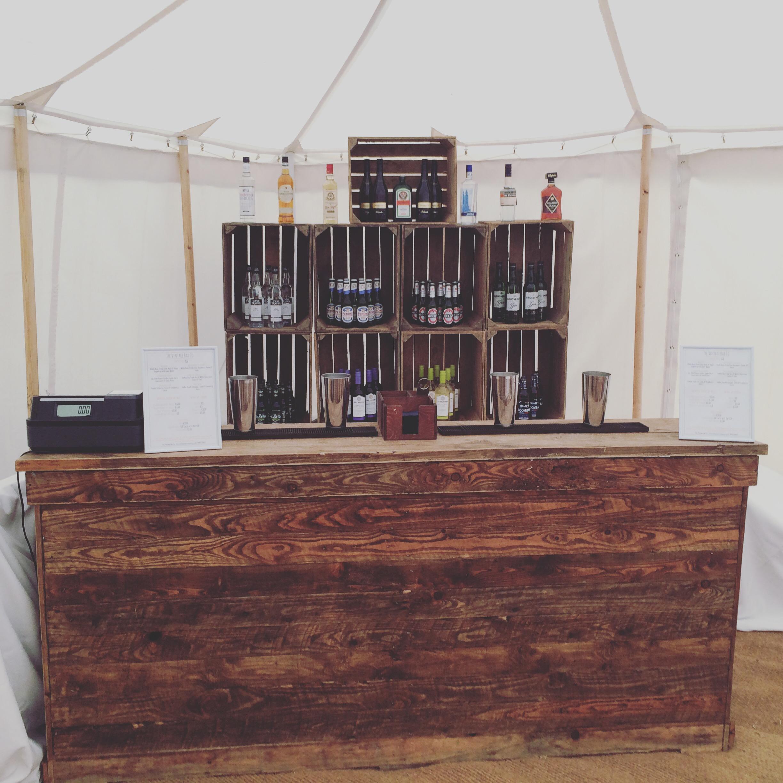 Vintage Bar & Apple Crate Back Bar